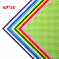 50*50 points plaque de Base de qualité Compatible avec LegoINGlys blocs de construction bricolage plaque de Base 40*40cm briques Educatioinal jouets pour enfants