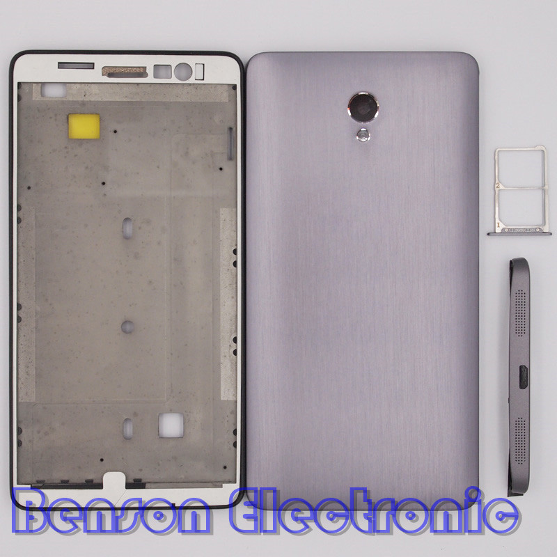 imágenes para BaanSam Nueva Tarjeta SIM Holder LCD Marco Frontal de La Batería de La Contraportada bandeja Inferior Cubierta de la Hoja Cubierta de La Barbilla Para Lenovo S860 Caso de Vivienda