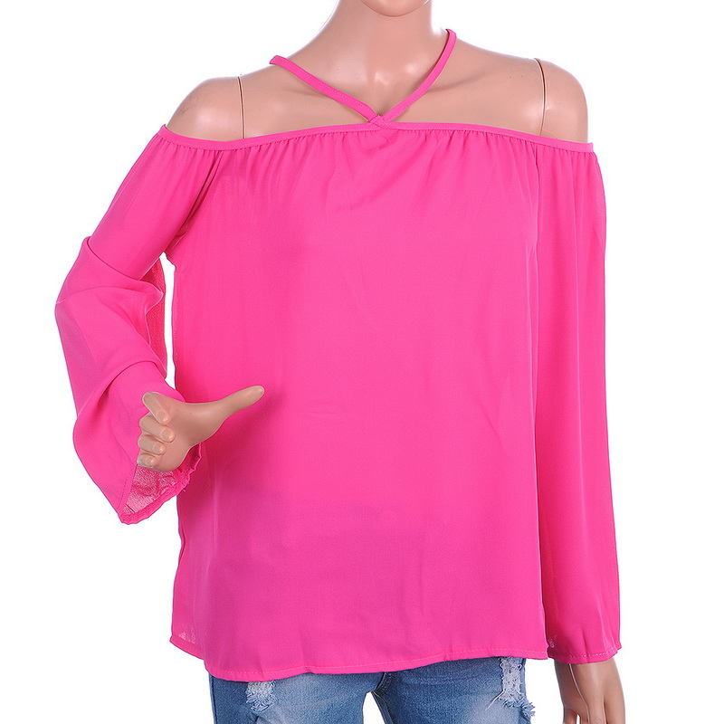 Laamei Plus Size 5XL Chiffon Blouses Women Halter Off Shoulder Sexy Shirts Female 2018 Summer Solid Casual Work blusa feminina