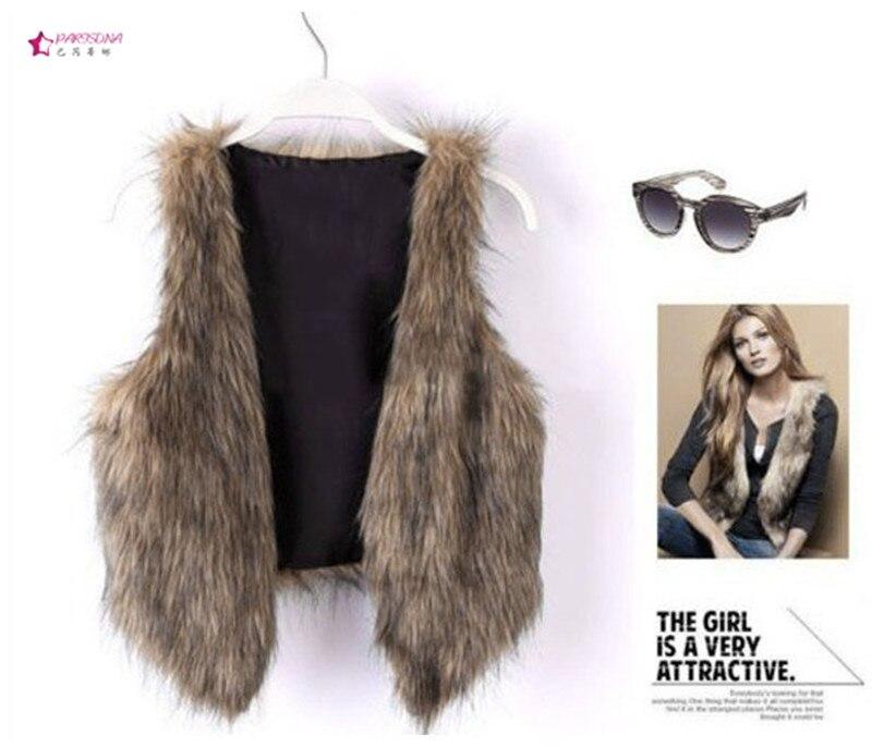 Plus Size 3XL 2015 Autumn Winter New Women Faux Fur Coat Korean ...