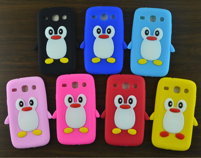 For Samsung Galaxy Core i8262 i8260 Case Cute cartoon Penguin Silicone Soft Case back Cover for Samsung GT-I8260 GT-i8262