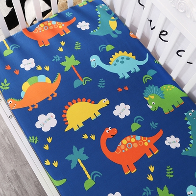 Customize baby kids bed sheet crib mattress cover bedding set cartoon parteen fitted crib sheet for girls boys (4)