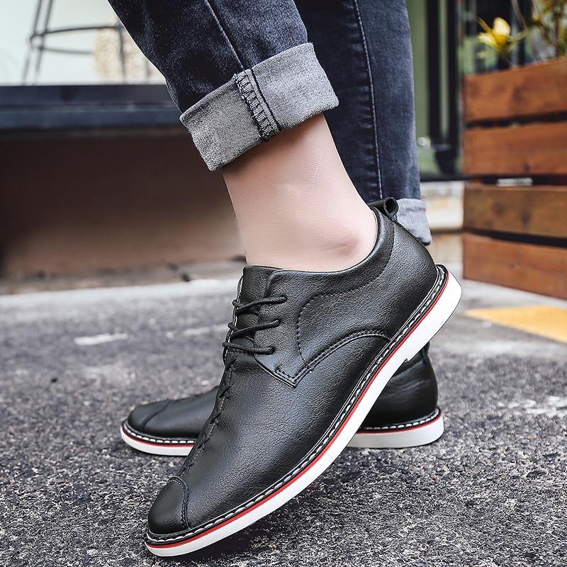 khaki Luxe Homme Lacets Marque Pour Tendance Sociale Chaussures Black Confortable Mocassins Kaki De D'affaires brown À Nouvelle Brun 2018 Hommes xHIpqp