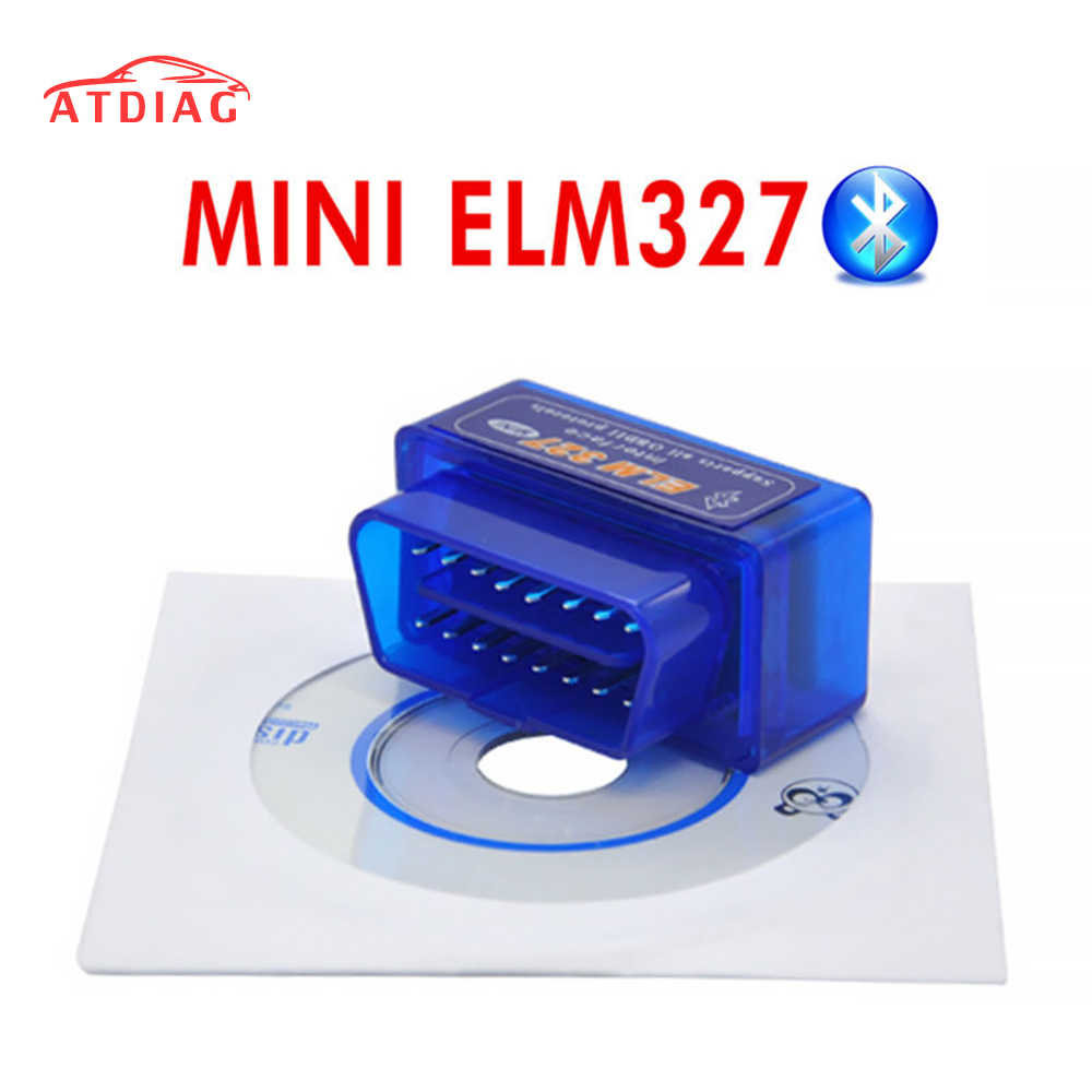 ¡Calidad superior! V2.1 Super MINI ELM327 Bluetooth OBD2 inalámbrico ELM 327 Multi-idioma trabaja en Android/PC