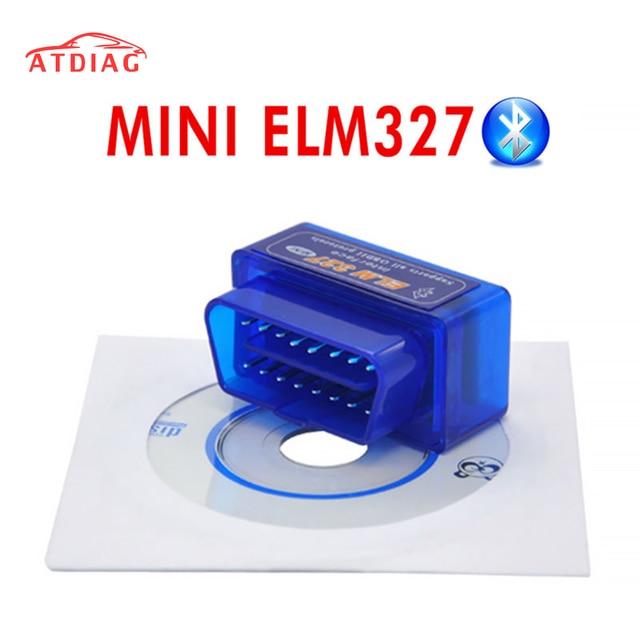 למעלה איכות!!! V2.1 סופר מיני ELM327 Bluetooth OBD2 אלחוטי ELM 327 רב שפה עובד על אנדרואיד/PC