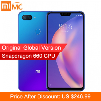 Global Version Xiaomi Mi 8 Lite 6GB 128GB Smartphone Snapdragon 660 Octa Core 6.26