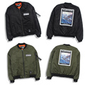 Fashion  Pilot Ma1 Jacket Men and Women Cotton Short Baseball Uniform Original SuFeng Tooling Coat Bomber Jacket