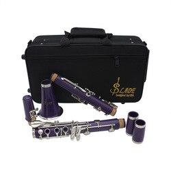Clarinete abs 17 chave bb plana soprano binocular clarinete com cortiça graxa pano de limpeza luvas 10 juncos chave de fenda caso reed