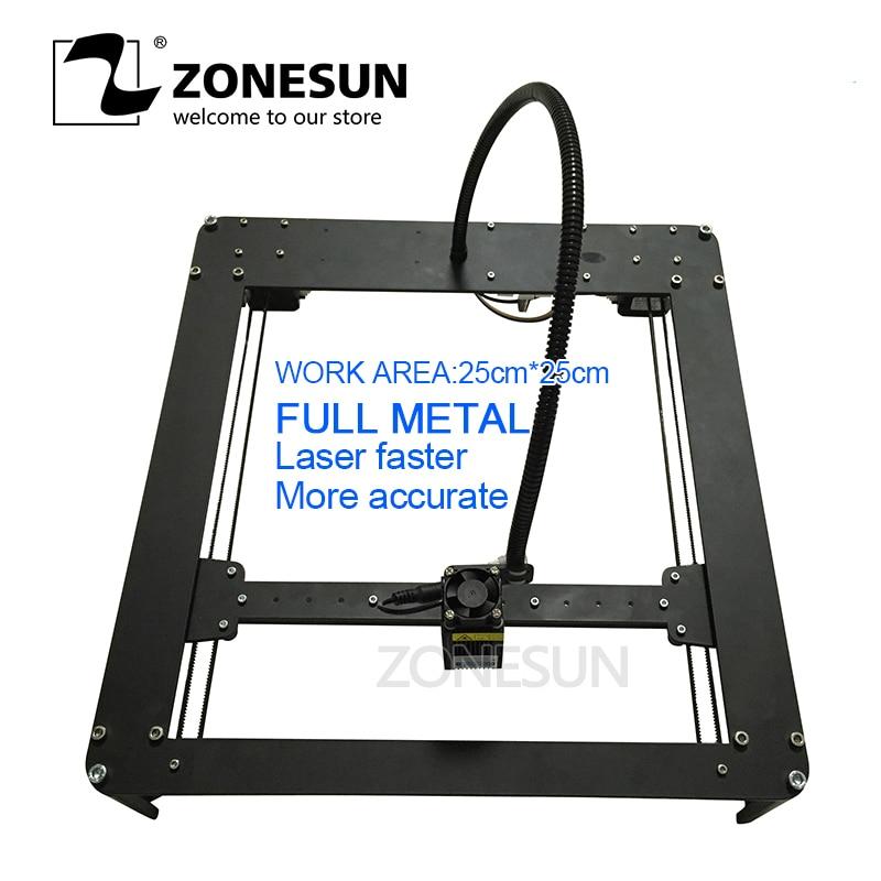 ZONESUN FULL METAL 5500mw Mini DIY Laser Engraving Engraver Machine Laser Printer Marking Machine Laser Fasrer MoLaser Power цена