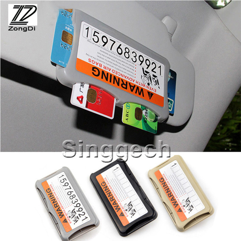Zd Car Styling Carring Bag Parking Credit Card For Bmw Toyota Ford
