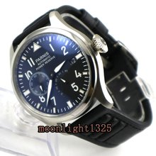 47 mm PARNIS big pilot Automatic Self-Wind movement leather strap men watches high-quality Mechanical Wristwatches