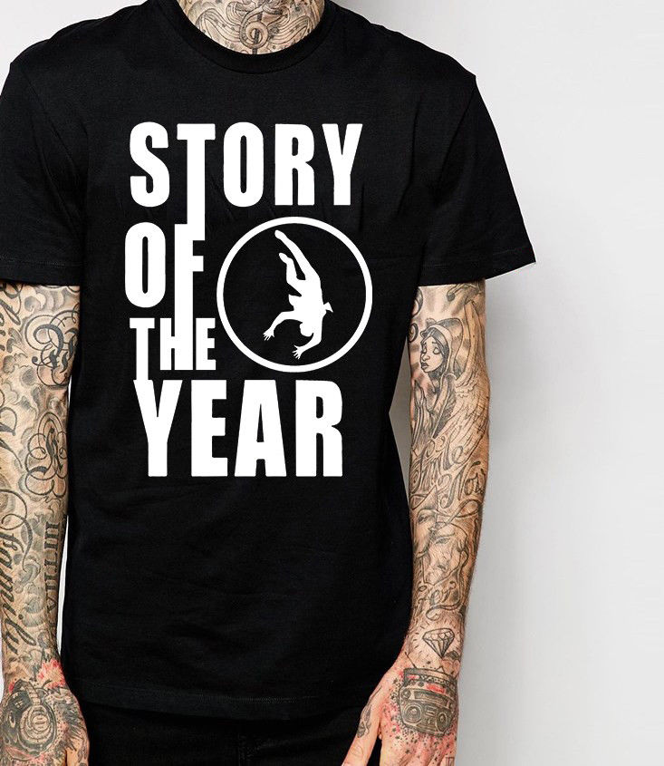 T Shirt Logo O-Neck Novelty Short Sleeve Mens Story Of The Year T Shirt New Merchandise (Post Hardcore) Black Tees