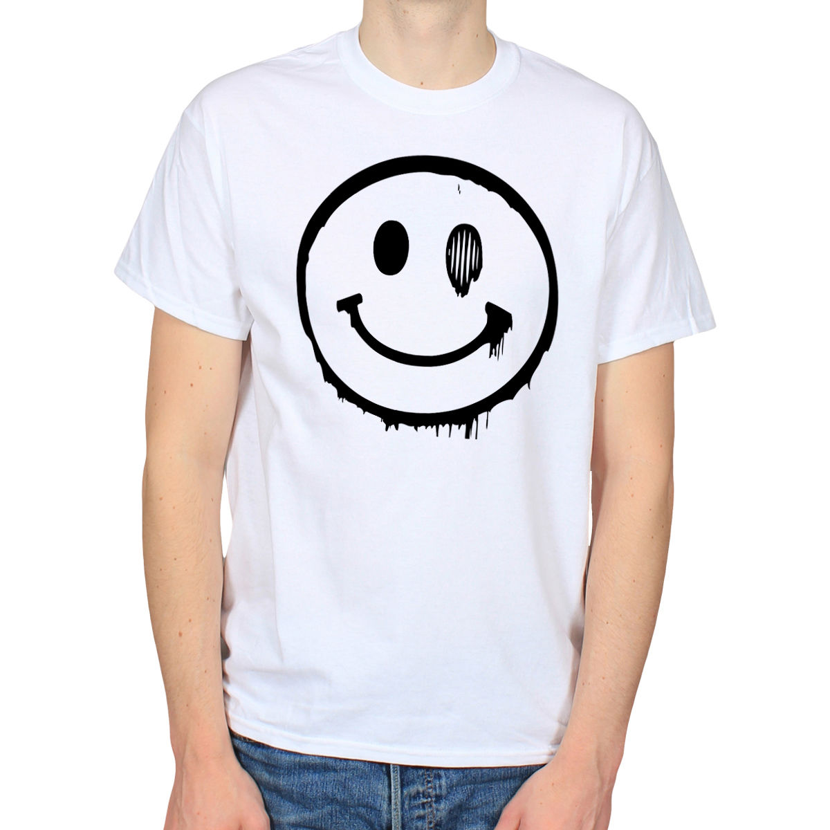 Ital tees bass culture and sound system clothing - Acid Smiley Face Lsd Cyber High Rave House Punk Dub Music Drugs Trip T Shirt