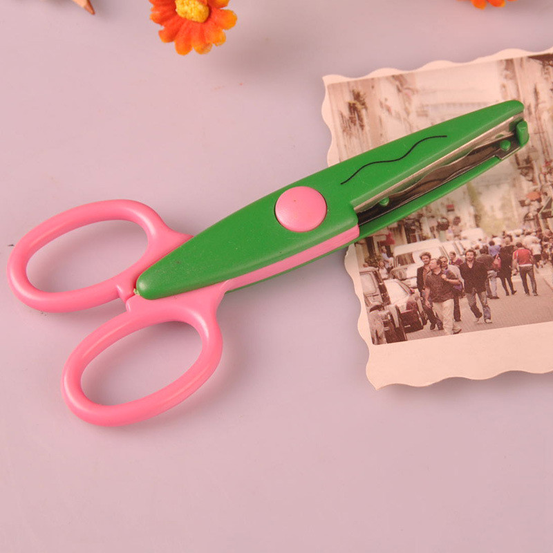 New Kids Scissors For Diy Photo Album Handmade Laciness Scissors For Photo Album Card Decorative Diy Scissors 6 Patterns Cutting Supplies