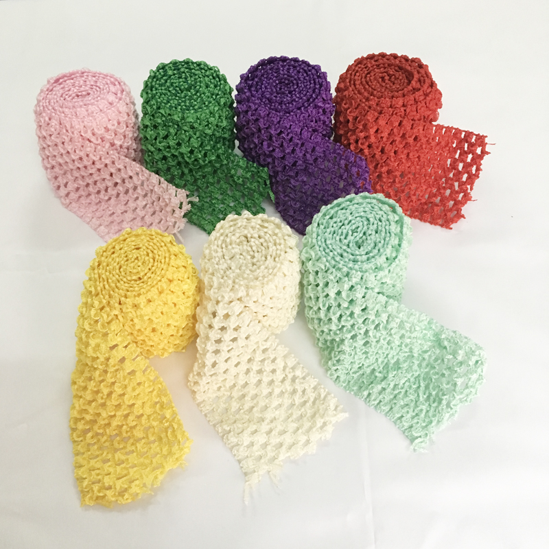 2 75 quot Crochet Headband Trim Band Rolls by Metre DIY Tutu Tulle Skirt Waistband Birthday Christmas Party Decoration in Party DIY Decorations from Home amp Garden