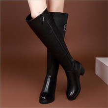 Fashion Women Knee High Boots Winter Warm Boots Solid Color Riding Boots Women Winter Boots EUR Size35-40