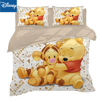 disney winnie the pooh comforter bedding set for kids single size bed sets embroidered queen size home textile 4pc hot sale