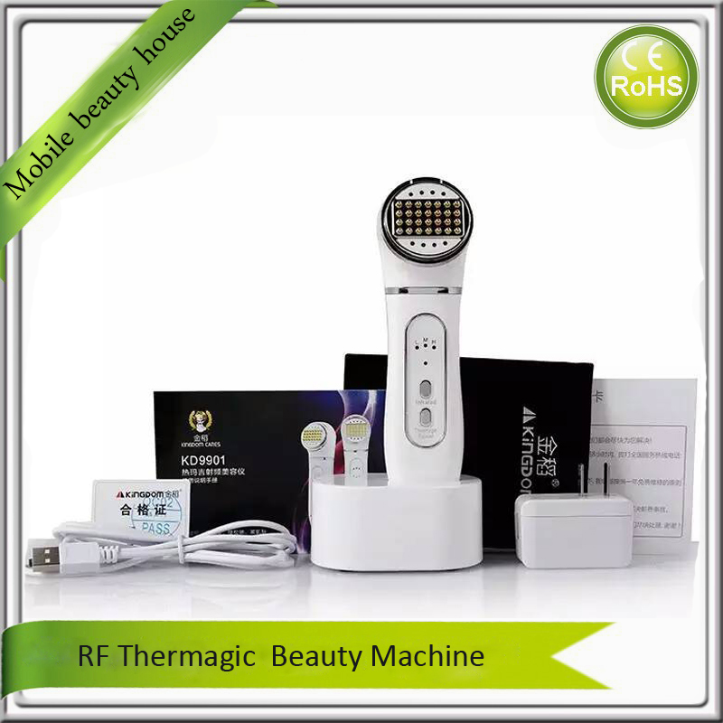 Home Use RF Radio Frequency Skin Rejuvenation Face Lifting Tightening Nutrient Infusion Wrinkle Removal Facial Beauty Machine цена