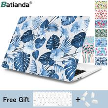 Summer Style leafs Pattern Hard Case For MacBook Air 11 12 13 2018 Laptop Sleeve for Mac book Pro 15 A1989 A1706 Touch Bar