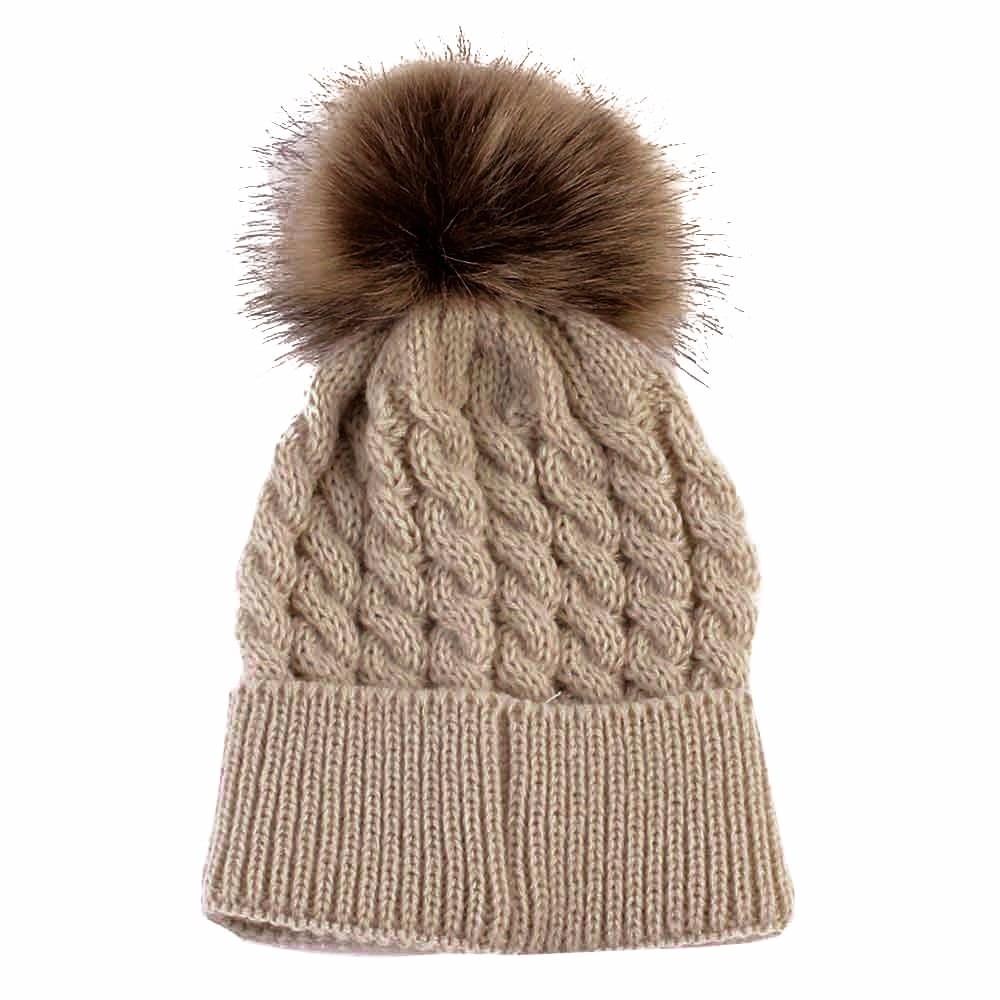 b3c407177513 Baby Hat Newborn Cute Winter Kids Baby Warm Hats Knitted Wool ...