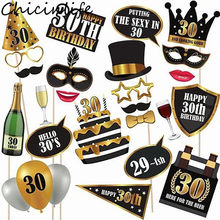 Chicinlife 30th 50th 60th Happy Birthday Photo Booth Prop Anniversary Party Man Woman Style Gift Funny Decor Supplies