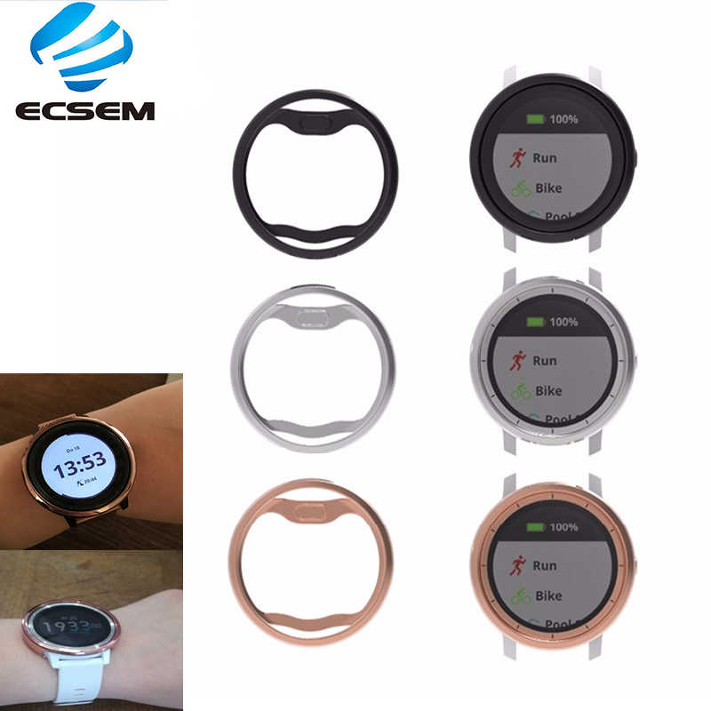 Reemplazo de fundas protectoras enchapadas ecsemb para Garmin viscoactive 3 trainer Soft TPU Security Full-edge cover watch Accesorios