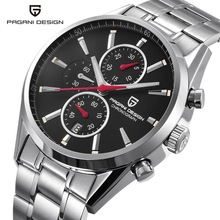 цена на PAGANI DESIGN Men Watch Top Brand Luxury Stainless Steel Sport Watch Male Quartz Watches Men Auto Date Clock Relogio Masculino