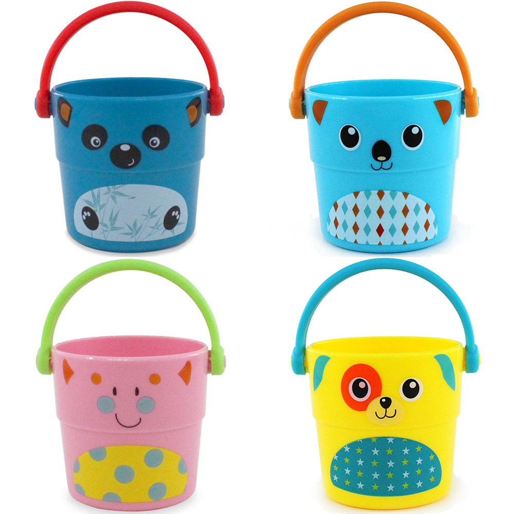 Baby Kids beach toys Shower Bath Toys Pour Bucket Bathing Water Spraying Tool Cute Flow Cup Style Baby bath toy for children New