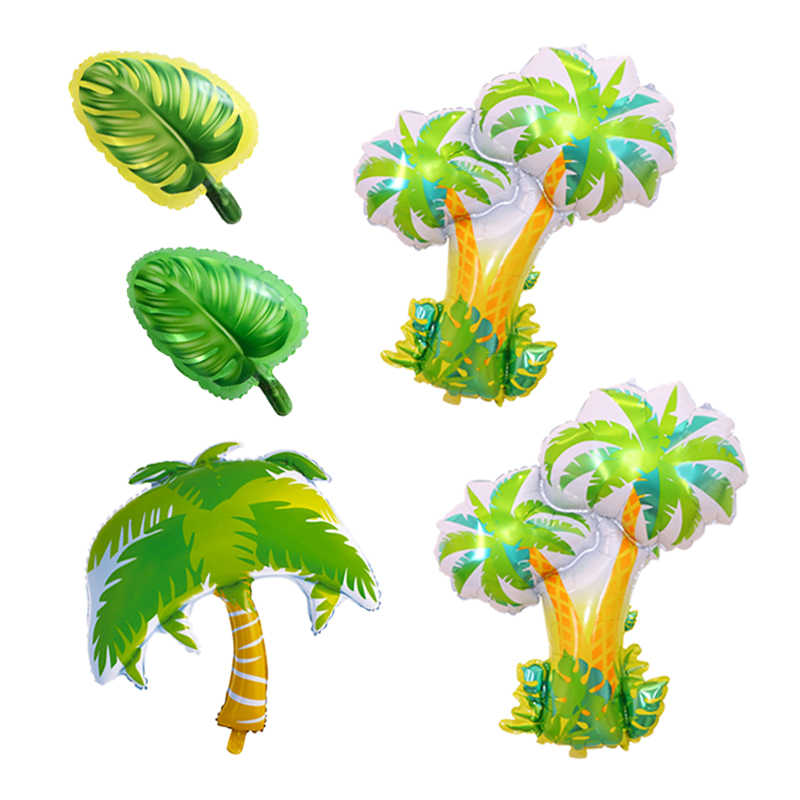 Tropical Palm Tree Turtle Daun Foil Balon Ulang Tahun Pesta Dekorasi Anak-anak Dewasa Inflatable Balon Tema Balon Mainan