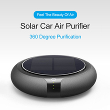 Solar Car Purifier Formaldehyde Haze Removal Anion Automotive Intelligent Air Purifier цена 2017