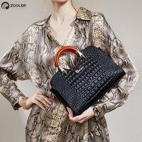 High quality Cow Bag Female 2019 luxury Genuine leather bags women ZOOLER brand handbag designer tote bag bolsa feminina#e118