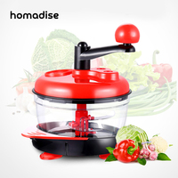 Homadise Manual Meat Grinders Vegetable Chopper Egg Beater Food Mixer Blender Shredder Handle Mincer Kitchen Tool