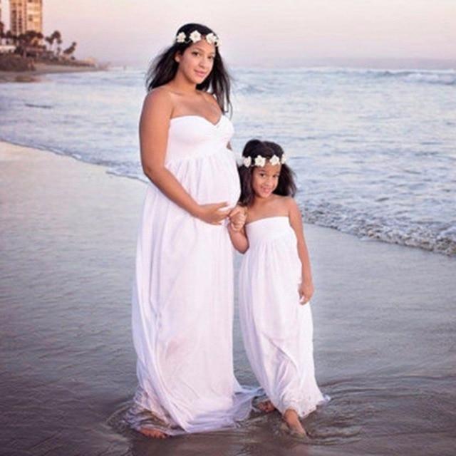 ad0652bc45c Puseky Fashion Maternity Photography Props Fancy Maternity Dresses Pregnant  Clothes Maxi Chiffon Dress Photo Session Dress