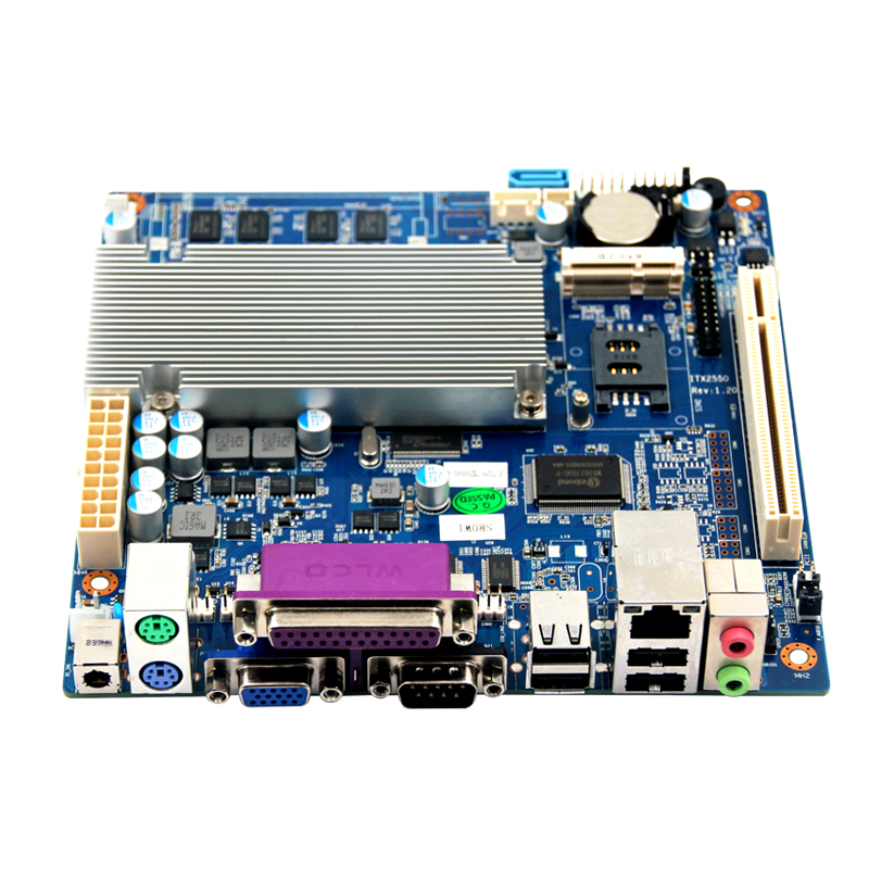 2017 Hot discount Mini itx Pos Motherboard with N2600 Processor/2gb Ram/2 coms ultra thin pc d525 motherboard fanless mini itx motherboard with onboard ddr3 2gb ram