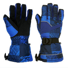Men Top Quality Skiing Gloves Thicken Warm Windproof Snow Ski Gloves Snowboard Cycling Motorcycle Snowmobile Winter