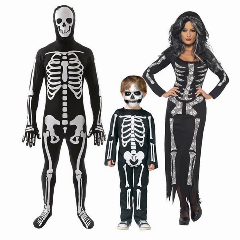 Skeleton Family Halloween Costumes.Us 24 9 2017 New Sexy Black Skeleton Costume Lovers Skeleton Top Ghost Clothing For Family Vampire Halloween Costumes For Women Men In Movie Tv