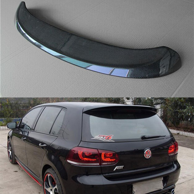 abt style mk6 carbon fiber roof spoiler wing for. Black Bedroom Furniture Sets. Home Design Ideas