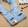 LensTid Nueva Italia Classic Negocio Causal Pantalones de Mezclilla Hombres Pantalones Slim Fit Hombres Jeans de Moda de Verano de Algodón Fino Homme #7283