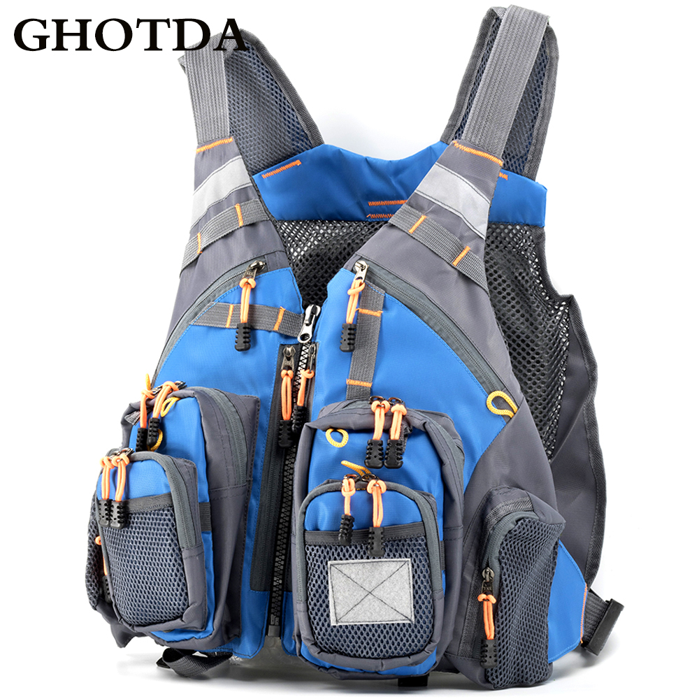Glorious Ghotda Fly Fishing Vest Polyester Outdoor Swimming Life Backpack For Carp Pesca