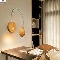 3 Вт Настенный светильник из цельного дерева для спальни изголовье лампа для гостиной зала Настенные светильники вращающийся настенный све...