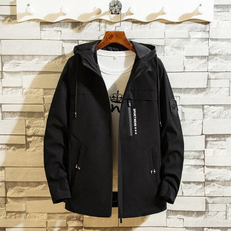 2019 Jacket men autumn winter hooded Korean fashion casual streetwear homme clothings ourterwear plus size M-4XL brand jackets 48