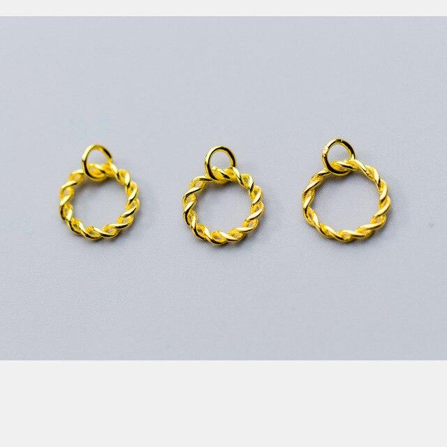 Купить uqbing модный кулон в виде крученого кольца из золота и серебра картинки
