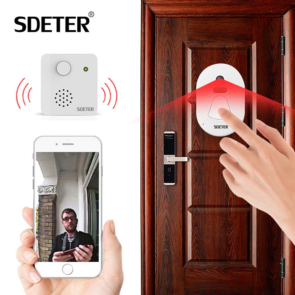 Sdeter Wifi Doorbell Door Bell Kit Home Security Camera