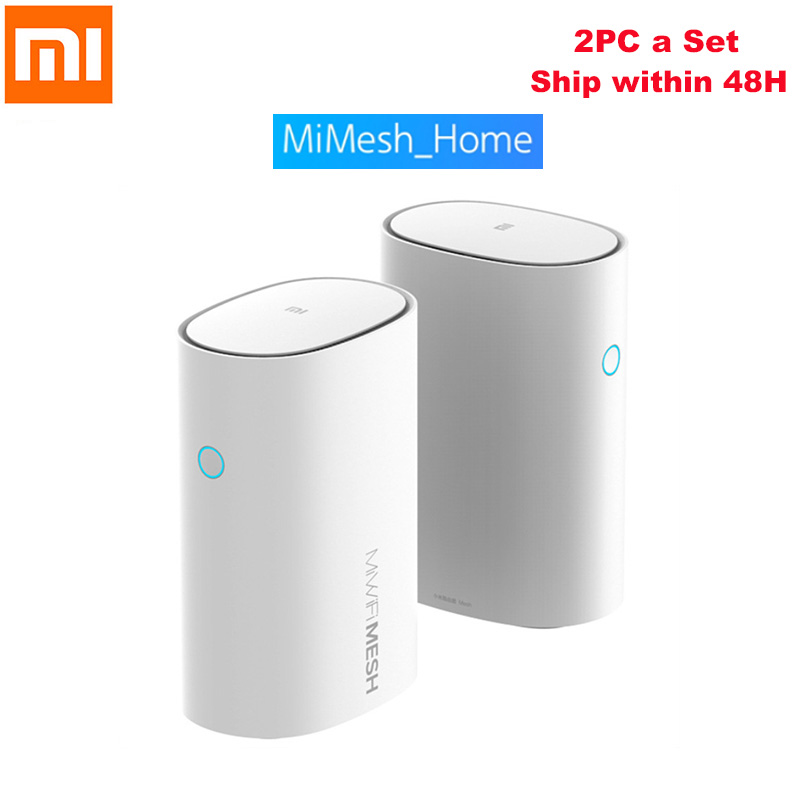 2PCS Xiaomi Mi WiFi Router 2.4G/5GHz Smart Xiaomi Mesh WiFi Router AC1300+1000M LAN+1300M Qualcomm 4 Core 4 Signal Amplifiers