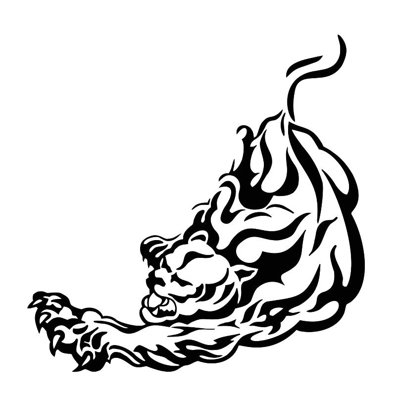 Tiger decal sticker for Car//Truck Window computer wall laptop cat bengal tribal