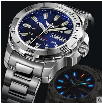 Yelang Men Automatic Watch Tritium T100 Light Switzerland ETA Movement 25Jewels Rotate Dial Date Day Diver Watch Waterproof300mMechanical Watches   -