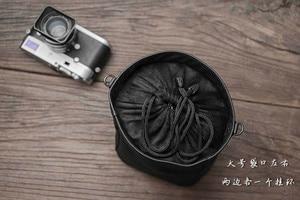 Image 5 - Yeni Mr. Taş el yapımı hakiki deri kamera çantası çanta siyah renk