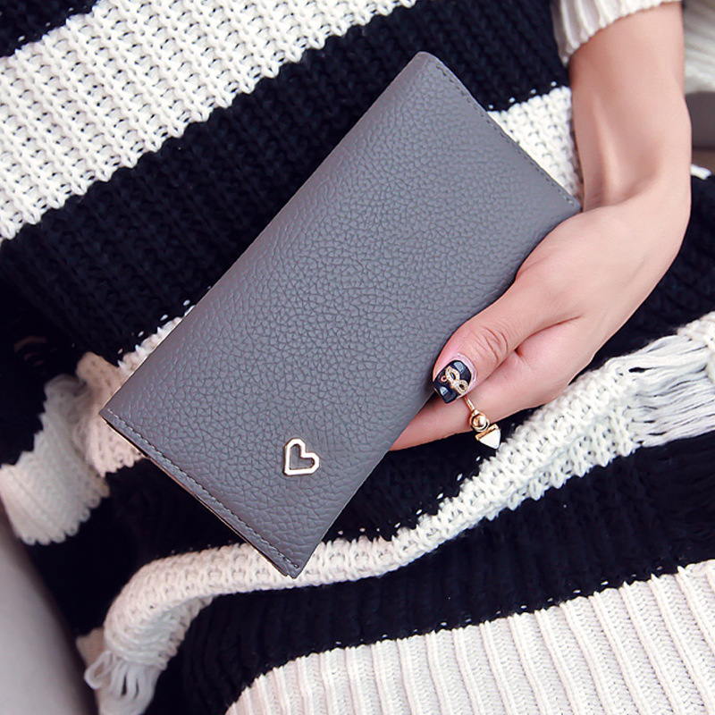 2017 Latest Lovely Leather Long Women Wallet Fashion Girls Change Clasp Purse Money Coin Card Holders wallets Carteras carteras love heart women girls coin purse wallet card holders comfystyle si 26d