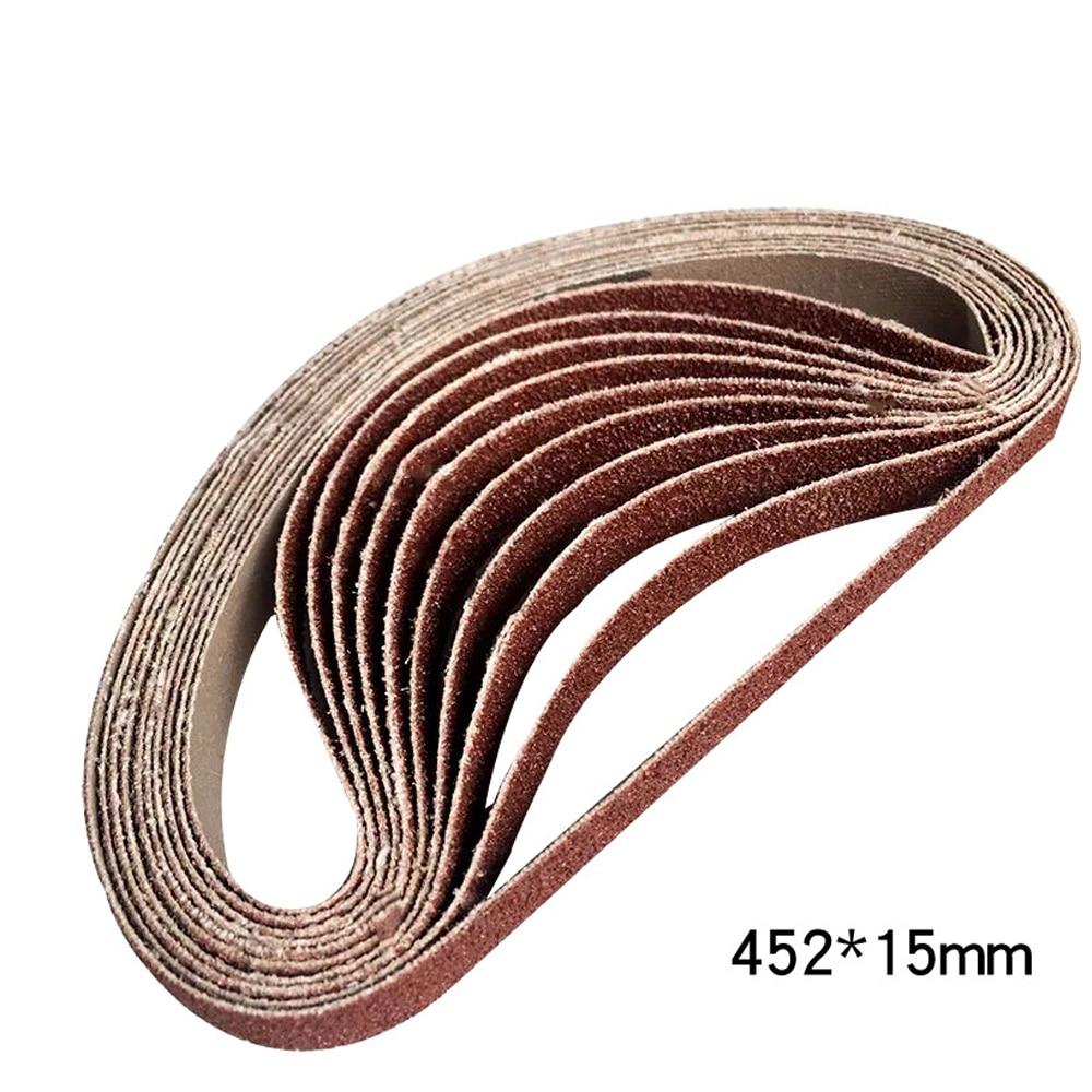 10 pz 452*15mm 60 120 240 400 600 Grane Rettifica e Lucidatura di Ricambio Nastro Abrasivo Grit Carta per la Macchina Smerigliatrice Angolare