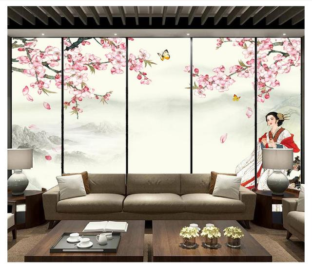 custom 3d photo mural wallpaper chinese style ancient beauty zen inkcustom 3d photo mural wallpaper chinese style ancient beauty zen ink painting landscape tv sofa background wall home decoration
